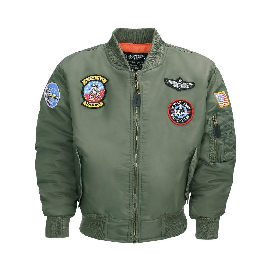 Bomber Bambino/a verde MA-I Flight Jacket