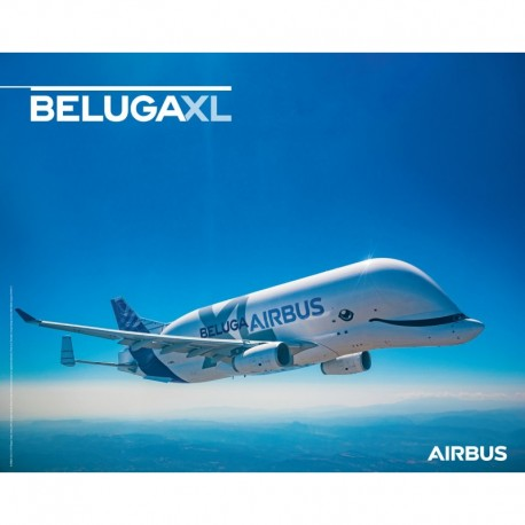 Poster Airbus Beluga XL flight view