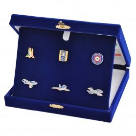 Cofanetto da collezione con 6 distintivi Frecce Tricolori