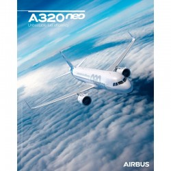 Poster Airbus A320neo - Sky View