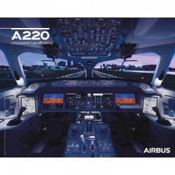 Poster Airbus A220neo - Cockpit View
