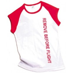 T-shirt REMOVE BEFORE FLIGHT donna