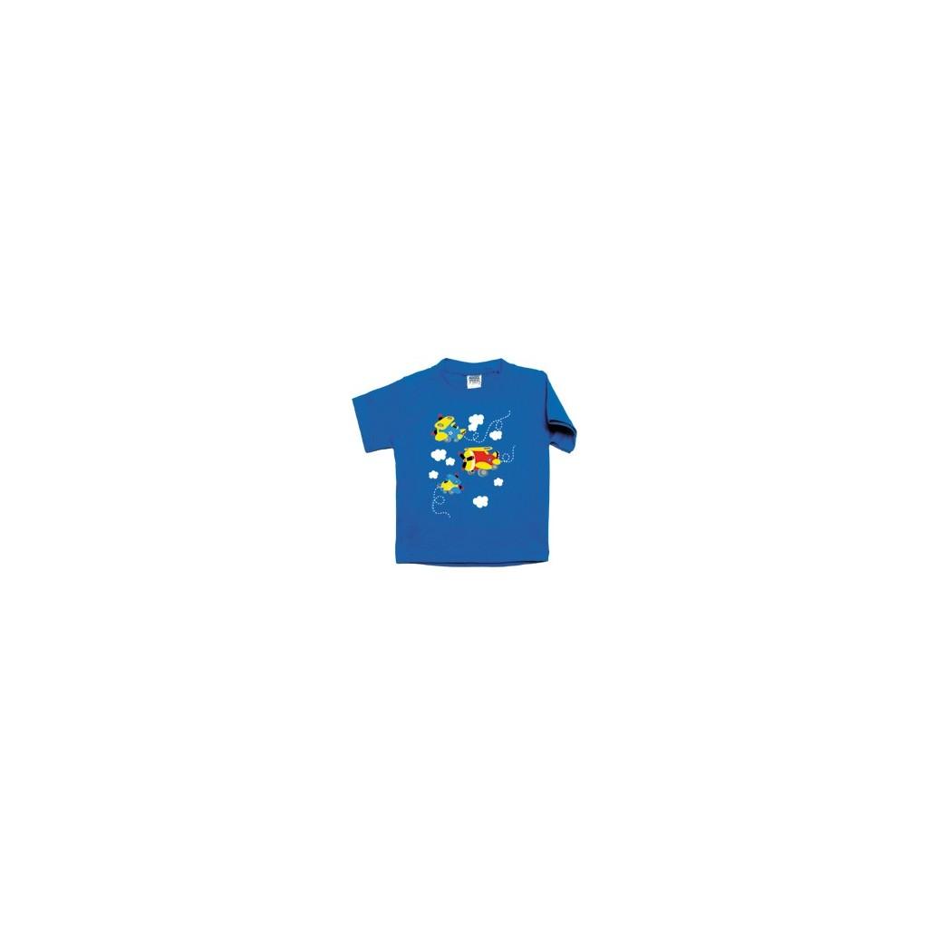 "T-shirt ""Blue biplane"""