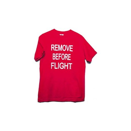 T-shirt REMOVE BEFORE FLIGHT uomo