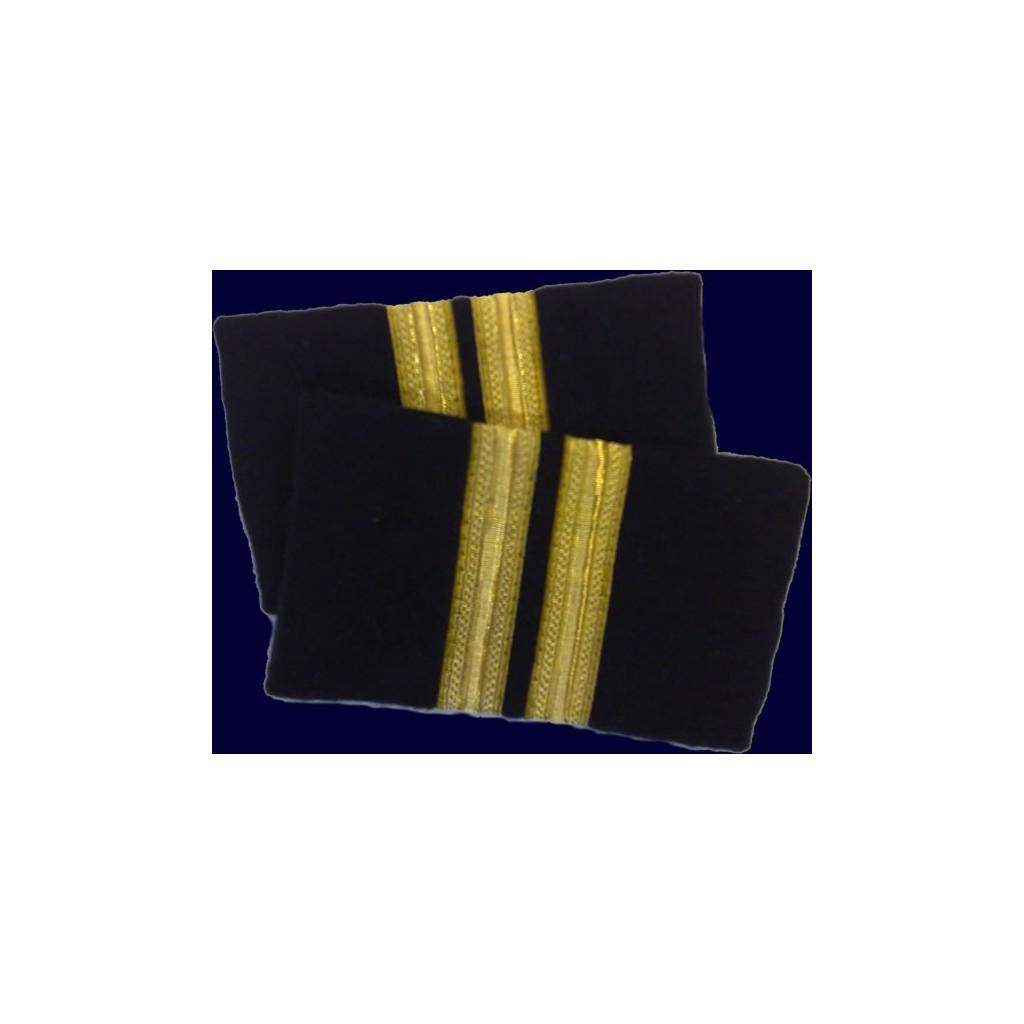 Coppia tubolari (gradi pilota) camicia 2 strisce ORO