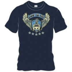 Live to fly Helicopter T-shirt